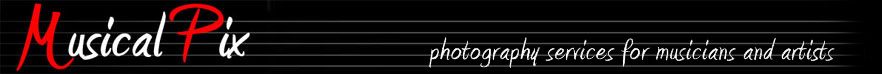 Musical Pix - photography services for musicians and artists